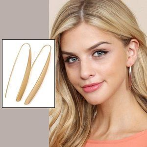 UNIQUE THREADER EARRINGS  -  GOLD